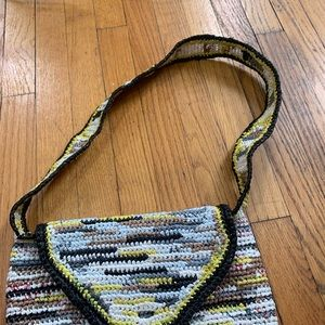 Vintage Bags - Vintage Upcycled Crochet Plastic Bag Purse
